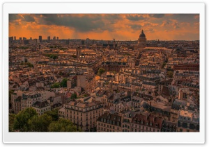 Paris Panorama Sunset Ultra HD Wallpaper for 4K UHD Widescreen desktop, tablet & smartphone