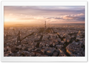 Paris Panoramic View HD Wide Wallpaper for Widescreen