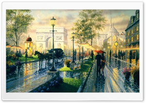 Paris Walk By Ken Shotwell HD Wide Wallpaper for Widescreen