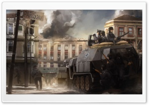 Paris War Painting HD Wide Wallpaper for Widescreen