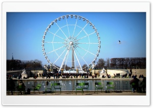 Paris Wheel HD Wide Wallpaper for Widescreen