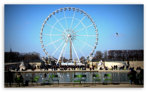 Paris Wheel HD wallpaper for Wide 5:3 Widescreen WGA ; HD 16:9 High Definition WQHD QWXGA 1080p 900p 720p QHD nHD ; Tablet 1:1 ; Mobile 5:3 16:9 - WGA WQHD QWXGA 1080p 900p 720p QHD nHD ;