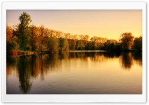 Park Lake, Autumn HD Wide Wallpaper for Widescreen