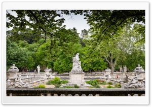 Park Statues France HD Wide Wallpaper for Widescreen