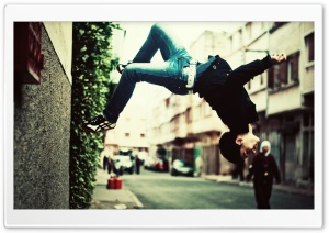 Parkour Jump HD Wide Wallpaper for 4K UHD Widescreen desktop & smartphone