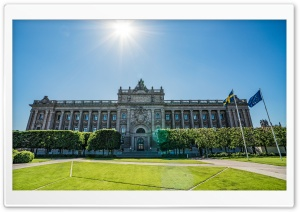 Parliament House, Stockholm, Sweden HD Wide Wallpaper for 4K UHD Widescreen desktop & smartphone
