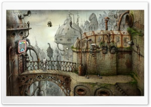 Parrot, Machinarium Game HD Wide Wallpaper for Widescreen