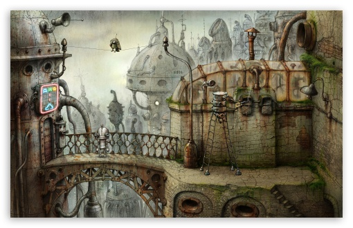 Download Parrot, Machinarium Game UltraHD Wallpaper
