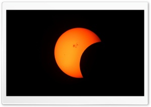 Partial Solar Eclipse HD Wide Wallpaper for 4K UHD Widescreen desktop & smartphone