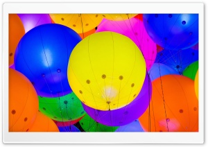 Party Balloons HD Wide Wallpaper for Widescreen