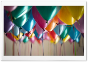 Party Balloons Ultra HD Wallpaper for 4K UHD Widescreen desktop, tablet & smartphone