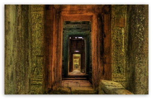 Passageway Inside Temple, Cambodia HD wallpaper for Wide 16:10 5:3 Widescreen WHXGA WQXGA WUXGA WXGA WGA ; HD 16:9 High Definition WQHD QWXGA 1080p 900p 720p QHD nHD ; Standard 4:3 5:4 3:2 Fullscreen UXGA XGA SVGA QSXGA SXGA DVGA HVGA HQVGA devices ( Apple PowerBook G4 iPhone 4 3G 3GS iPod Touch ) ; Tablet 1:1 ; iPad 1/2/Mini ; Mobile 4:3 5:3 3:2 16:9 5:4 - UXGA XGA SVGA WGA DVGA HVGA HQVGA devices ( Apple PowerBook G4 iPhone 4 3G 3GS iPod Touch ) WQHD QWXGA 1080p 900p 720p QHD nHD QSXGA SXGA ;