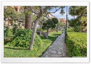 Passeig de la Ribera Garden Roc de Sant Gaiet, Catalonia Ultra HD Wallpaper for 4K UHD Widescreen desktop, tablet & smartphone