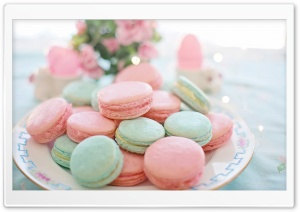 Pastel Macarons Aesthetic HD Wide Wallpaper for 4K UHD Widescreen desktop & smartphone