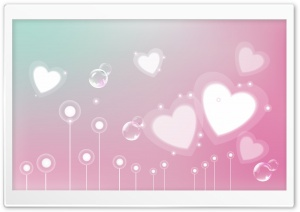 Pastel Valentine Hearts HD Wide Wallpaper for Widescreen