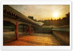 Path To The Temple Of Heaven HD Wide Wallpaper for Widescreen
