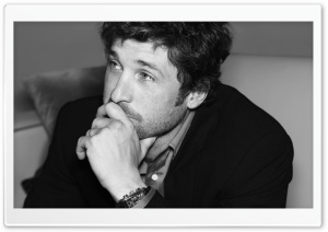 Patrick Dempsey Black And White HD Wide Wallpaper for Widescreen