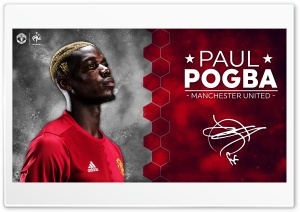 Paul Pogba Manchester United 2016 17 HD Wide Wallpaper for Widescreen