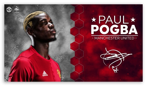 Paul Pogba Manchester United 2016 17 4K HD Desktop