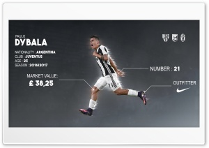 Paulo Dybala HD Wide Wallpaper for 4K UHD Widescreen desktop & smartphone