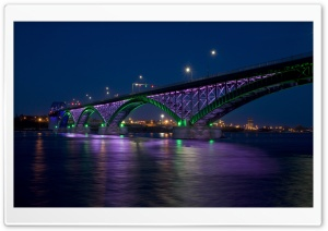 Peace Bridge At Night HD Wide Wallpaper for Widescreen
