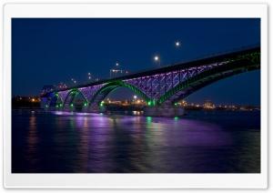 Peace Bridge At Night Ultra HD Wallpaper for 4K UHD Widescreen desktop, tablet & smartphone