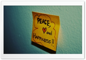 Peace, Love And Happiness Ultra HD Wallpaper for 4K UHD Widescreen desktop, tablet & smartphone