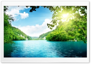 PEACEFUL  LAKE HD Wide Wallpaper for Widescreen