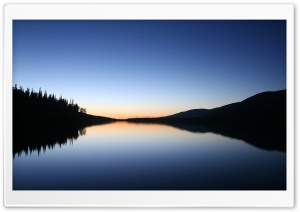 Peaceful Lake At Dusk HD Wide Wallpaper for 4K UHD Widescreen desktop & smartphone