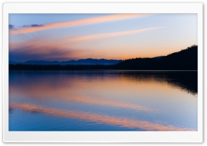 Peaceful Lake At Dusk HD Wide Wallpaper for Widescreen