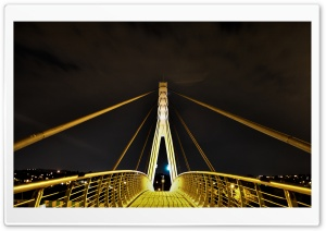 Pedestrian Bridge 14th Avenue HD Wide Wallpaper for 4K UHD Widescreen desktop & smartphone