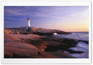 Peggy's Point Lighthouse, Peggy's Cove, Nova Scotia HD Wide Wallpaper for Widescreen