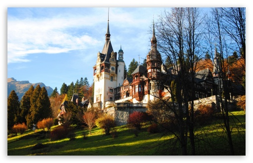 Peles Castle In Fall HD wallpaper for Wide 16:10 5:3 Widescreen WHXGA WQXGA WUXGA WXGA WGA ; HD 16:9 High Definition WQHD QWXGA 1080p 900p 720p QHD nHD ; UHD 16:9 WQHD QWXGA 1080p 900p 720p QHD nHD ; Standard 4:3 5:4 3:2 Fullscreen UXGA XGA SVGA QSXGA SXGA DVGA HVGA HQVGA devices ( Apple PowerBook G4 iPhone 4 3G 3GS iPod Touch ) ; Tablet 1:1 ; iPad 1/2/Mini ; Mobile 4:3 5:3 3:2 16:9 5:4 - UXGA XGA SVGA WGA DVGA HVGA HQVGA devices ( Apple PowerBook G4 iPhone 4 3G 3GS iPod Touch ) WQHD QWXGA 1080p 900p 720p QHD nHD QSXGA SXGA ;
