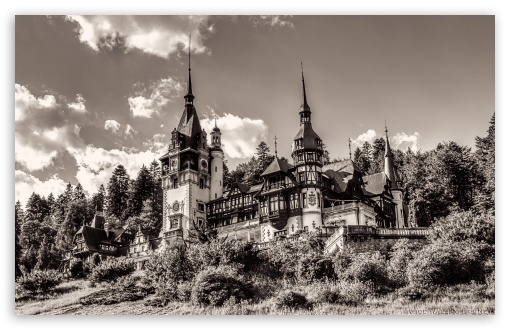 Peles Castle Romania Sepia HD wallpaper for Wide 16:10 5:3 Widescreen WHXGA WQXGA WUXGA WXGA WGA ; HD 16:9 High Definition WQHD QWXGA 1080p 900p 720p QHD nHD ; UHD 16:9 WQHD QWXGA 1080p 900p 720p QHD nHD ; Tablet 1:1 ; iPad 1/2/Mini ; Mobile 4:3 5:3 3:2 16:9 - UXGA XGA SVGA WGA DVGA HVGA HQVGA devices ( Apple PowerBook G4 iPhone 4 3G 3GS iPod Touch ) WQHD QWXGA 1080p 900p 720p QHD nHD ;