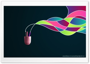 Pen Pot with Colourful Waves HD Wide Wallpaper for Widescreen