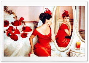 Penelope Cruz in Red Dress HD Wide Wallpaper for Widescreen