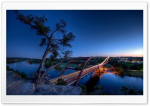 Pennybacker Bridge, Austin HD Wide Wallpaper for 4K UHD Widescreen desktop & smartphone