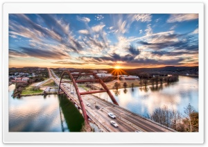 Pennybacker Bridge, Austin, Texas HD Wide Wallpaper for Widescreen
