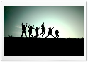 People Jumping In The Air HD Wide Wallpaper for Widescreen