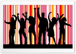 People Partying HD Wide Wallpaper for Widescreen