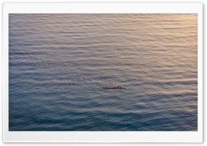 People Rowing a Boat HD Wide Wallpaper for Widescreen