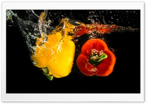 Pepper Vegetables Underwater HD Wide Wallpaper for 4K UHD Widescreen desktop & smartphone