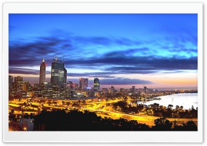 Perth At Night HD Wide Wallpaper for Widescreen