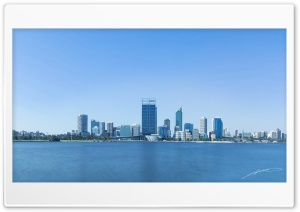 Perth City Panorama HD Wide Wallpaper for Widescreen