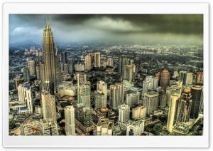 Petronas Towers, Kuala Lumpur, Malaysia HD Wide Wallpaper for Widescreen