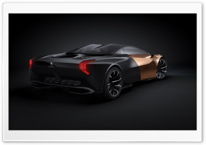 Peugeot Onyx Concept - Rear HD Wide Wallpaper for Widescreen