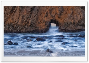 Pfeiffer Beach Big Sur HD Wide Wallpaper for Widescreen