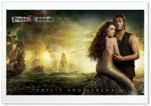 Philip And Syrena - 2011 Pirates Of The Caribbean On Stranger Tides HD Wide Wallpaper for Widescreen
