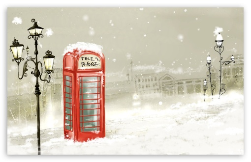 Phone Booth Winter HD wallpaper for Wide 16:10 5:3 Widescreen WHXGA WQXGA WUXGA WXGA WGA ; HD 16:9 High Definition WQHD QWXGA 1080p 900p 720p QHD nHD ; Standard 4:3 5:4 Fullscreen UXGA XGA SVGA QSXGA SXGA ; iPad 1/2/Mini ; Mobile 4:3 5:3 3:2 16:9 5:4 - UXGA XGA SVGA WGA DVGA HVGA HQVGA devices ( Apple PowerBook G4 iPhone 4 3G 3GS iPod Touch ) WQHD QWXGA 1080p 900p 720p QHD nHD QSXGA SXGA ;