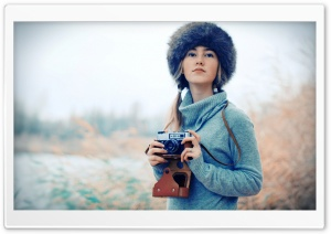 Photographer Girl HD Wide Wallpaper for Widescreen